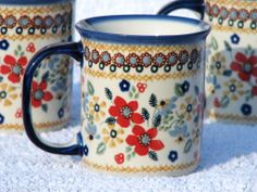 Love this mug! Polish pottery