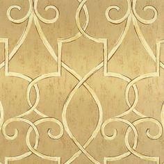 PoshLiving - Hampton Lattice Wallpaper in Metallic Gold - <3