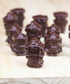 Objetivo: Cupcake Perfecto.: Trabajar con chocolate (y bombones robot rellenos)