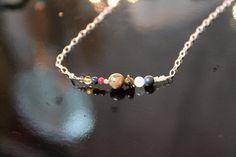 Solar System Necklace all 5 named dwarf by BriAnneCoppCreations