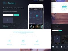 Hi Guys  updating pindrop music landing page, please check the attachment for the full view.  sign-up for our upcoming beta launch on www.pindropmusic.co  Cheers  Twitter / Behance / Website
