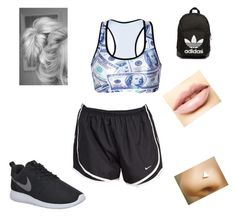 """exercises"" by tijona on Polyvore featuring NIKE, LASplash, adidas Originals, women's clothing, women's fashion, women, female, woman, misses and juniors"