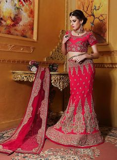 Traditional Choli Bollywood Lehenga Bridal Ethnic wear Indian Pakistani Wedding #TanishiFashion