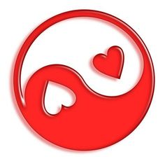 ♕ yin to my yang Red Heart I Love Heart, My Heart, Happy Heart, Jing Y Jang, Shapes Images, Shrink Art, Heart Images, Fire Heart, Heart Art