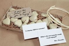 wedding table pass the parcel game by dottie and belle   notonthehighstreet.com