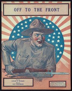 "Civil War soldier, Rifle, gun w Musket, Sheet music cover, art, soldier, 20""x16"""