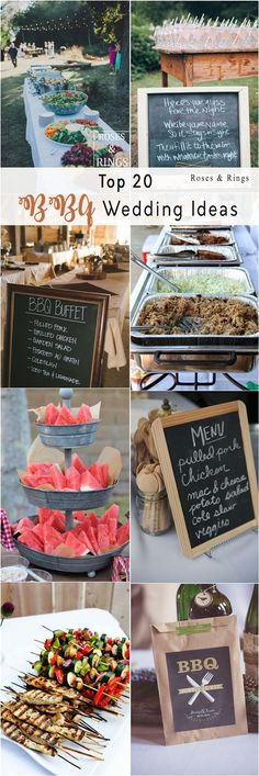 Rustic I do BBQ (Barbecue) Wedding Ideas - Borrow the beautiful ideas to create a casually gorgeous wedding event. Begin planning rustic barbecue BBQ wedding from the details like burlap menus, wooden Soirée Bbq, Barbecue Wedding, I Do Bbq, Bbq Diy, Diy Wedding Food, Wedding Dinner, Wedding Catering, Wedding Ideas, Budget Wedding