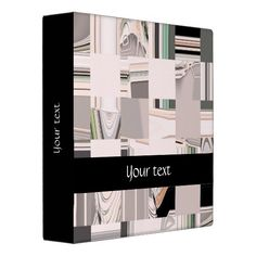 Abstract Art Tiled / 3 Ring Binder - Custom text #fomadesign