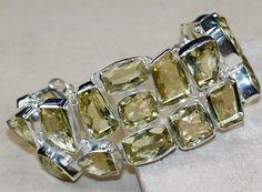 Lemon Quartz bracelet designed and created by Sizzling Silver. Please visit  www.sizzlingsilver.com. Product code: BR-8099
