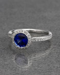 Ritani Platinum 1.50 cttw. Diamond & Sapphire Ring - explore the art deco collection http://www.ritani.com/engagement-rings/style/art-deco-engagement-rings