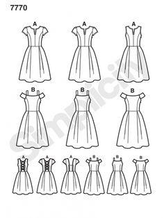 7770 Simplicity Schnittmuster Kleid
