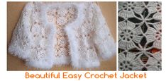 Diy Crafts - Today we bring a piece of crochet very special: a fantastic chaqueta! It is wonderful to take to a party, or wear on a special day. Crochet Vest Pattern, Crochet Jacket, Crochet Cardigan, Knit Crochet, Crochet Patterns, Crochet Christmas Wreath, Crochet Simple, Baby Girl Patterns, Crochet Baby Booties