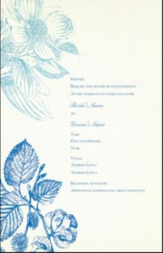 Flower sketch invite