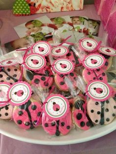 Pink Ladybugs Birthday Party Ideas | Photo 11 of 24 | Catch My Party