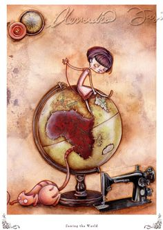 Print  Sewing the World by infinitales on Etsy, €17.05