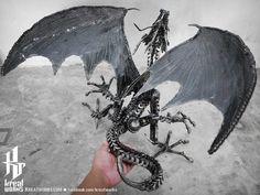 Metal Crouching Dragon Medium item by Kreatworks on Etsy