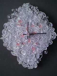 Quilled clock, pretty impressive