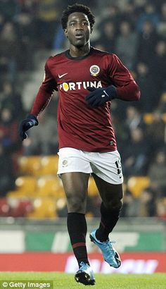 Having failed to impress Liverpool, Bony earned a move to Czech giants Sparta Prague soon after