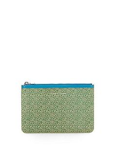 Proenza Schouler Medium Printed Leather Zip Pouch - Cricket - Size No
