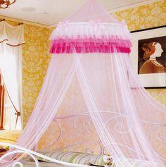 Pink Ruffles Bed Net