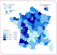 Proportion de la population desservie par une eau du robinet conforme en permanence vis-à-vis des pesticides (2003)