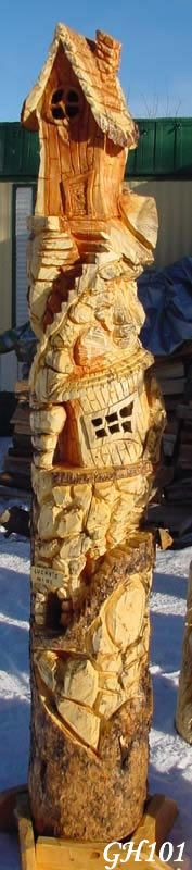 Huge Gnome Home Carving Chainsaw Carving