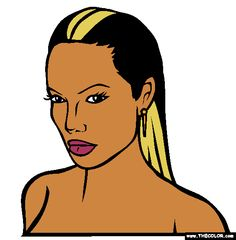 angelina jolie coloring page