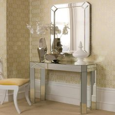 Https://www.homesdirect365.co.uk/images/romano Mirrored Console Table P2726 3490_zoom  | Oh So Chic Furniture! | Pinterest