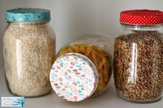 Tunea y recicla los botes de cocina a partir de washi tape Cinta Washi, Washi Tape, Mason Jars, Breakfast, Blog, Diy, Jar Lids, Kitchen Jars, Glass Boat