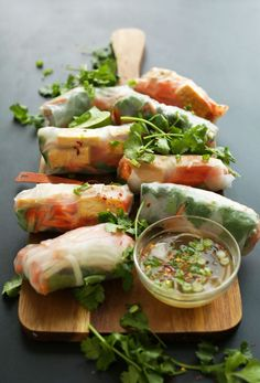 Bahn Mi Spring Rolls by minimalistbaker #Spring_Rolls #Light #Healthy