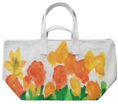 WATERCOLOR FLORAL SERIES B WEEKEND BAG by khoncepts.com