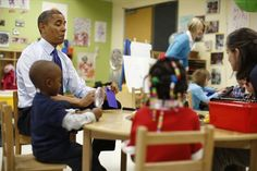 President Obama at College Heights Early Childhood Learning Center, Decatur GA, Feb 14