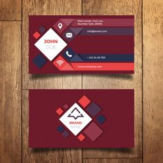 conception de carte de visite moderne Vecteur gratuit