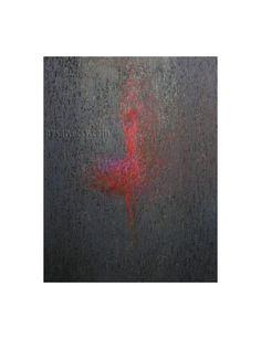 Abstract Ballet  Ballet Wall Art  Red Ballerina Print  by Pysar,
