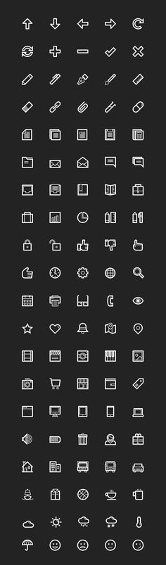 Today we want to shareafree sample packincluding100 essential line icons fromLineArt, a premium icon pack including 700 line-based pict...
