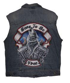 #jeansjacket #harley