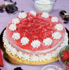 Torta gelato di fragole e fiordilatte