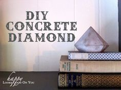 diy concrete diamond
