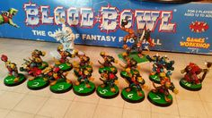 #Skaven I hated playing these guys the most. Tough, fast and mutations a bad combo. #BloodBowl #miniatures #boardgames #GamesWorkshop