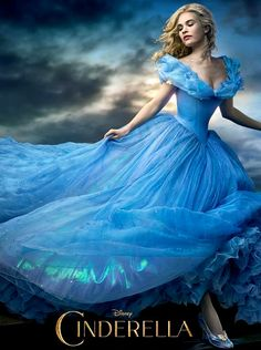 "Lily James stars in the ""Cinderella"" 2015 movie poster"