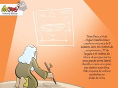 História Bíblica infantil para o evangelismo de crianças por Raquel Rocha EBD A história da Arca de Noé contada através das ilustrações de Mig e Meg