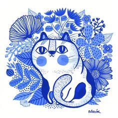 Cat illustration by @helen_dardik