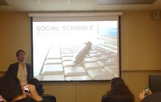 Bryan Davis speaks to the Social Media class about establishing a foundation for Communications.