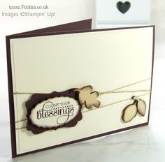 Stampin' Up! UK Demonstrator Pootles - Count Your Blessings Simple Soft Card