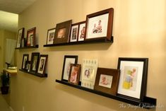 This site has several ideas for decorating with photos.