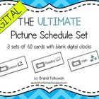Picture Schedule - Digital Clocks Picture schedules are a great way to ease transitions and reduce anxiety for all students, especially those with autism spectrum disorders and anxiety related disabilities. If you need a card that isn't listed, the author will create one for you! A Peach for the Teach