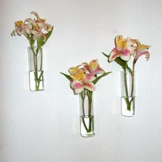 Wall Decor Hanging Crystal Glass Flower Vase Planter Terrarium ...