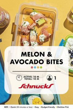 The rich creaminess of avocado pairs well with the refreshing sweetness of melon. Veggie Recipes, New Recipes, How To Cut Avocado, Summer Snacks, Main Meals, Cooking Tips, Side Dishes, Appetizers, Yummy Food