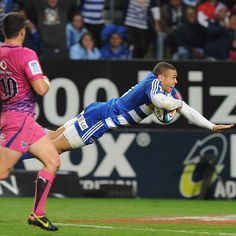 The Stormers' Bryan Habana dives over for a try Rugby Time, Super Rugby, Six Nations, Rugby World Cup, Rugby League, World Of Sports, Espn, Strength Training, At Home Workouts