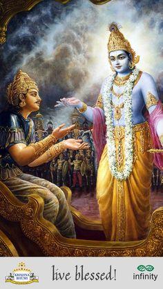 When the Kurukshetra war was imminent, Krishna talked with both the Pandavas and…
